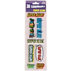 Nekupto 3D Samolepky se jménem Super kluk 8 kusů 009