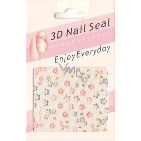 Nail Accessory 3D nálepky na nehty 10100 SJT18 1 aršík