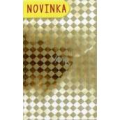 Nekupto Celofánový sáček Vánoční zlatý 15 x 25 cm CI 174 01