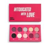 Makeup Obsession Intoxicated By Love Paletka 10 pigmentovaných metalických, třpytivých a přechodových očních stínů 13 g
