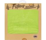 Albi Fitness ručník Makám na sobě zelený 90 x 50 cm