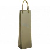 Ditipo Dárková papírová taška na láhev 12 x 9 x 39 cm EKO Olivově zelená