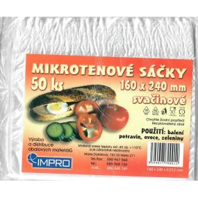 Impro Sáček mikroténový svačinový 12my 160 x 240 mm 50 kusů