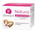 Dermacol Natural Výživný mandlový noční krém 50 ml pro suchou a citlivou pleť