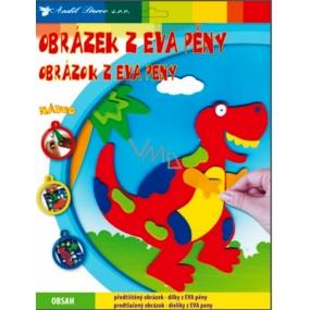 Obrázky z EVA pěny Tyranosaurus červený 33 x 25 cm