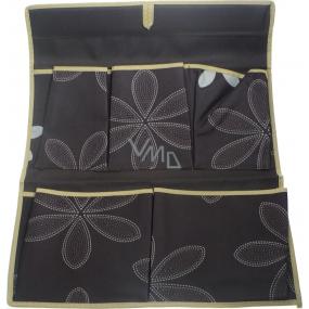 Kapsář 320 hnědý látkový 44 x 35 cm 5 kapes