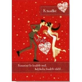 Albi Hrací přání do obálky K svatbě Láska je láska Lucie Bílá 14,8 x 21 cm