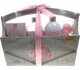 Raphael Rosalee Cosmetics Růže sprchový gel 200 ml + tělové mléko 200 ml + sůl do koupele 150 g + toaletní mýdlo 2x4 g, kosmetická sada