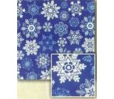Nekupto Vánoční balicí papír Modrý, vločky 2 x 0,7 m