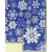 Nekupto Balící papír vánoční Modrý, vločky 2 x 0,7 m