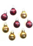 Albi Vánoční koulička červená Lucka 2 cm