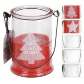 Lucerna vonná svíčka hvězda ve skle 85 x 60 mm