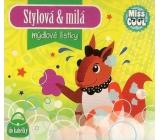 Nekupto Miss Cool Mýdlové lístky Veverka Stylová & milá 15 kusů 1 balení QQ 006