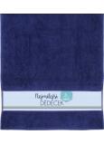 Albi Ručník Nejmilejší dědeček tmavě modrá 90 cm × 50 cm