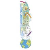 Monumi Veselý metr Raketa skládačka k vymalování pro děti 5+ 160 x 40 cm
