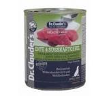 Dr. Clauders Kachna, maso a sladký brambor kompletní superprémiové krmivo 94% masa pro psy 800 g
