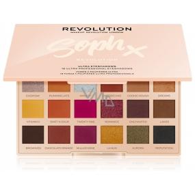 Makeup Revolution X Soph Extra Spice paletka očních stínů 18 x 0,8 g