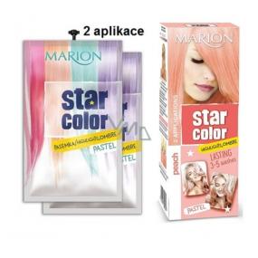 Marion Star Color smývatelná barva na vlasy Peach - Broskvová 2 x 35 ml