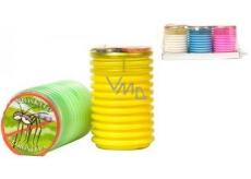 Citronella Repelentní vonná svíčka proti komárům, v plastu, barevný mix 70 x 110 mm 1 kus
