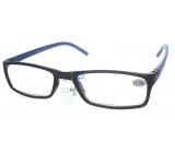 Berkeley Čtecí dioptrické brýle +1,0 plast černé modré stranice 1 kus MC2 ER4045