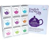 English Tea Shop Bio Vánoční zima Očista po vánočním hodování + Detox se zimním ovocem + Chai pro zvýšení imunity + Po večeři + Osladit si život + Dodat si energii pro svátky + Neodolatelně bílé + Svatý den + Uvolnit se na sezonu, 72 kusů čajů, 9 příchutí, 108 g, dárková sada v plechové dóze