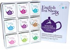 English Tea Shop Bio Vánoční zima Očista po vánočním hodování + Detox se zimním ovocem + Chai pro zvýšení imunity + Po večeři + Osladit si život + Dodat si energii pro svátky + Neodolatelně bílé + Svatý den + Uvolnit se na sezonu, 72 kusů, 9 příchutí po 8 nálevových sáčcích, dárková sada v plechové dóze