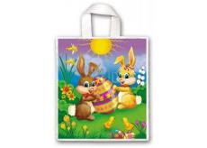 Press Igelitová taška 45 x 50 cm s uchem Velikonoční Zajíčci 1 kus