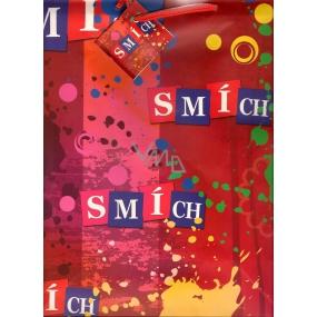 Nekupto Dárková papírová taška střední 32 x 26 x 13 cm Smích 1 kus FL
