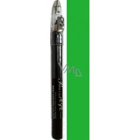 Princessa Fashion Best Colour voděodolná stínovací tužka na oči 09 Emerald Green se třpytkami 3,5 g