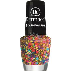 Dermacol Nail Polish with Effect lak na nehty s efektem 07 Carnival Pixel 5 ml