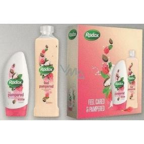 Radox Feel Pampered krémový sprchový gel 250 ml + Feel Pampered pěna do koupele 500 ml dárková, kosmetická sada