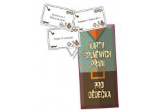 Bohemia Gifts & Cosmetics Karty splněných přání pro dědečka 20 kusů karet