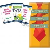Bohemia Gifts & Cosmetics Karty splněných přání pro tatínka 20 kusů karet