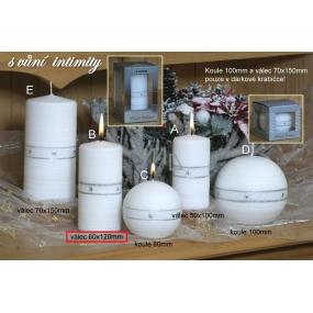 Lima Aura Intimity vonná svíčka bílá válec 60 x 120 mm 1 kus
