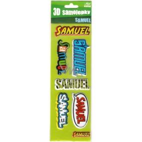 Nekupto 3D Samolepky se jménem Samuel 8 kusů 065