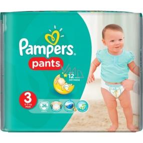 Pampers Pants 3 Midi 6-11 kg plenkové kalhotky 26 kusů