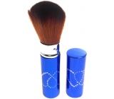 Kosmetický štětec na pudr s krytkou modrý 11 cm 30450-06