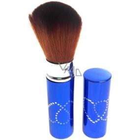 Kosmetický štětec na pudr s krytkou modrý 30450-06 11 cm