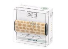 Millefiori Milano Icon White Musk - Bílé pižmo Vůně do auta Wood voní až 2 měsíce 47 g