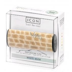 Millefiori Icon White Musk - Bílé pižmo Vůně do auta Wood voní až 2 měsíce 47 g