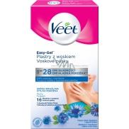 Veet Easy-Gel Podpaží depilační voskové pásky pro citlivou pokožku 16 kusů