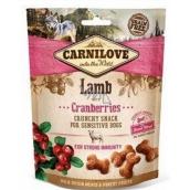 Carnilove Dog Jehněčí s brusinkami lahodný křupavý pamlsek pro všechny psy pro silnou imunitu 200 g