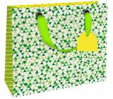 Nekupto Dárková papírová taška luxusní 18 x 16 x 8 cm Zelená 1839 LIS