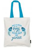 Nekupto Neplastuj Nákupní taška bavlna, Udělej si dnešek boží 38 x 40 x 10 cm