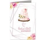 Nekupto Přání k svatbě Svatební dort 115 x 170 mm 3609 J