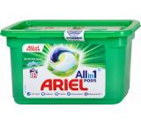 Ariel All in 1 Pods Mountain Spring gelové kapsle na praní bílého a světlého prádla 13 kusů 327,6 g