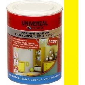 Colorlak Akrylcol Lesk V2046 vodouředitelná lesklá vrchní barva Žlutá medová 0,6l