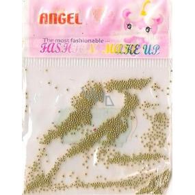 Angel Ozdoby na nehty kuličky zlaté 1 balení