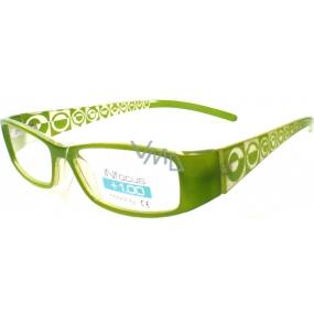 Berkeley Čtecí dioptrické brýle +2,0 zelené 1 kus R7603 PD62