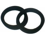 Vlasová gumička černá 5 x 1 cm 2 kusy